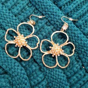 Jewelry - Crystal Avenue Flower Drop Earrings